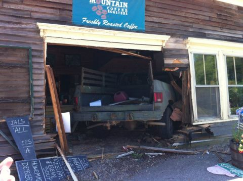 No one was injured when a truck crashed into the Town Landing Restaurant in Bowdoinham, but the eatery sustained heavy damage.