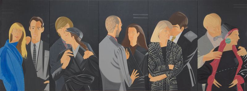 """Pas De Deux"" by Alex Katz was given to Colby College by Paul J. Schupf in honor of former art museum director Hugh Gourley, who died last week."