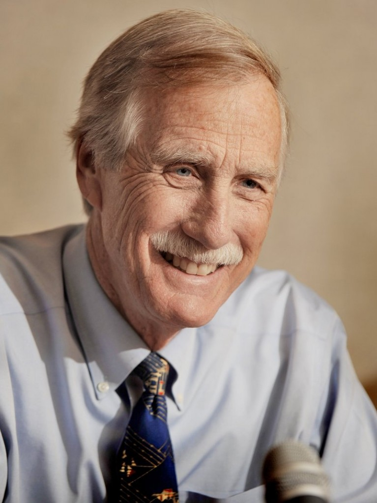 Angus King: Leading in polls, but not complacent