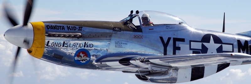 Two people at the open house at Wiscasset Municipal Airport Saturday and Sunday will win a ride aboard the Dakota Kid II, a World War II-era P-51 Mustang plane.