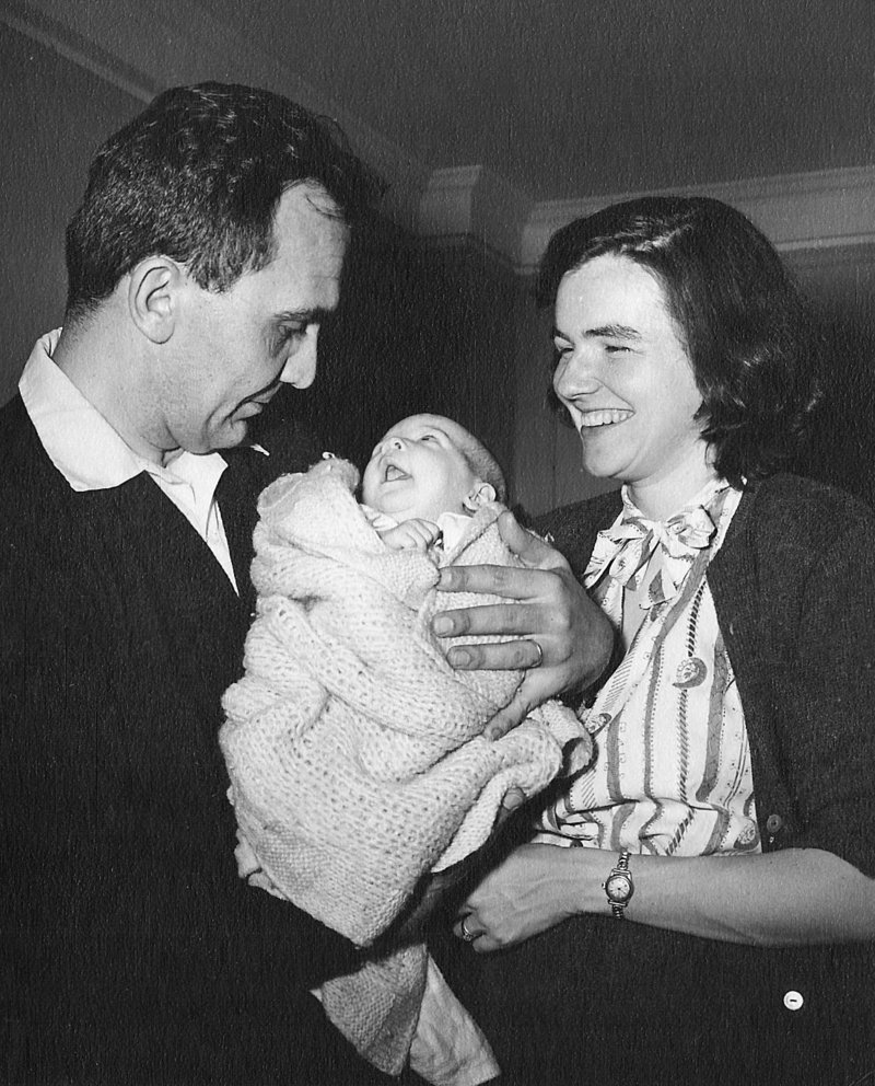 Young father Veselin with his wife, Lydia Kesich, and their daughter, Carol, in New York in 1958.
