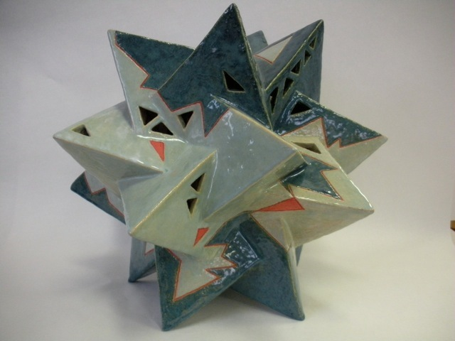 """Five Tetrahedron Star,"" glazed porcelain by Carolyn Judson"