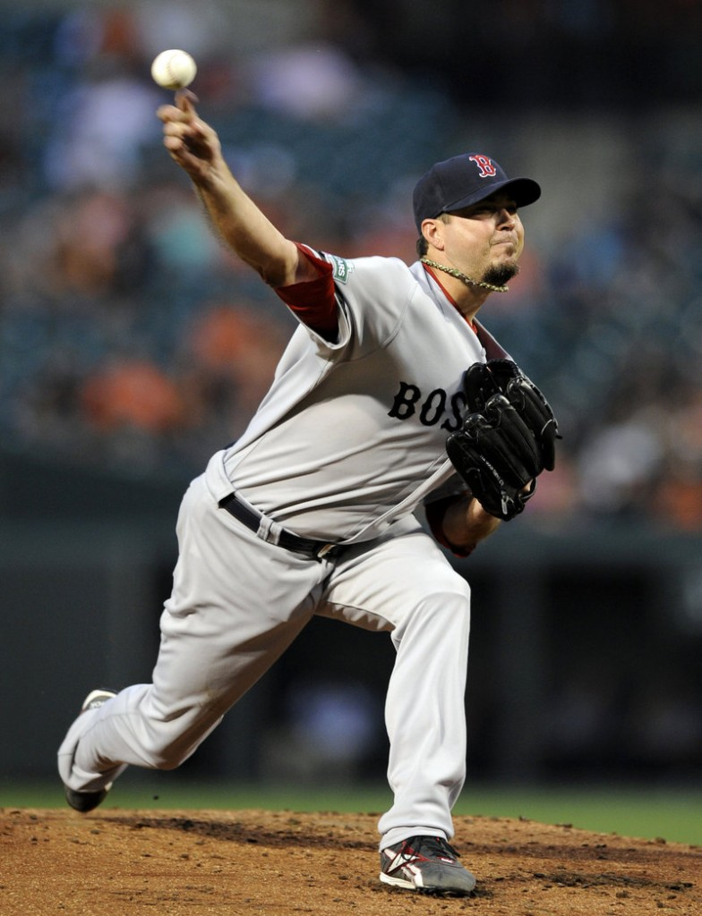 Josh Beckett continues to struggle for Boston, as he gave up two home runs and six earned runs in 5 1⁄3 innings Tuesday in a 7-1 loss to the Orioles in Baltimore.