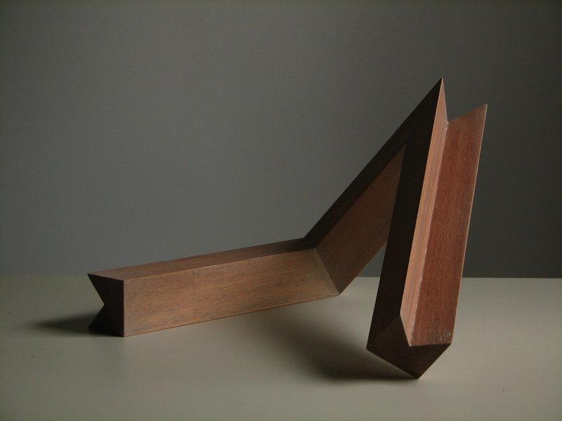 """Akimbo II, 10,"" by Duane Paluska, mahogany."