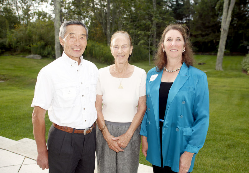 Tak Sato of Gorham, party hostess Milly Monks and Eugenia O'Brien, artistic director for Portland Ballet.
