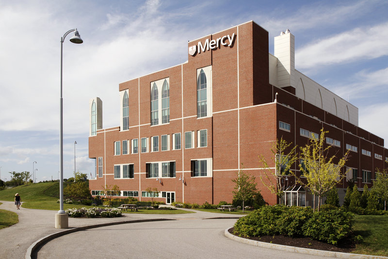 Mercy Health System of Maine's locations include Mercy Hospital's Fore River Parkway site, shown in the photo above.