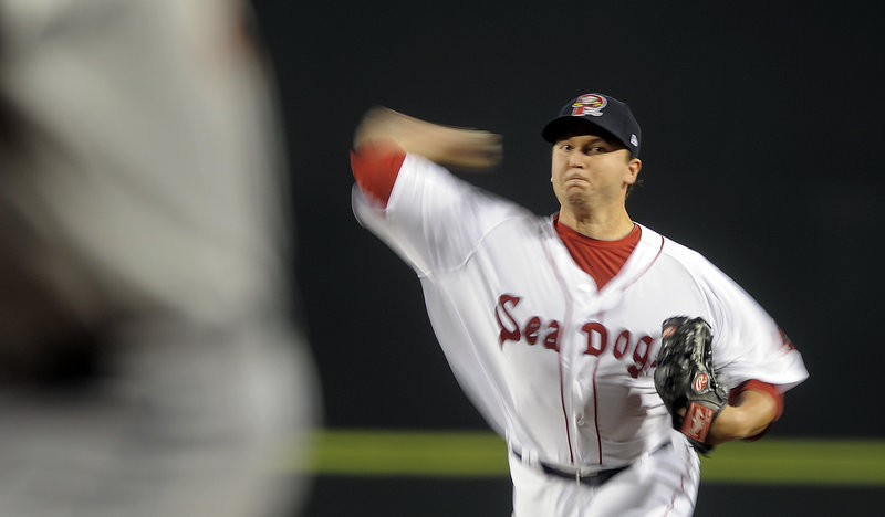 Mike MacDonald gave the Sea Dogs just what they needed – not only a victory but lasting into the seventh inning, throwing 110 pitches to give the much-used bullpen a breather.