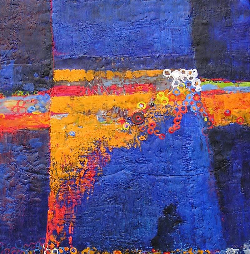 """""""Afterward,"""" encaustic on panel by Julie Vohs"""