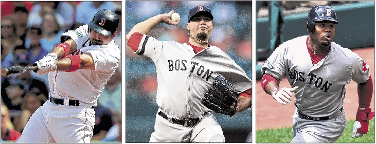 Adrian Gonzalez, Josh Beckett and Carl Crawford were traded to the Dodgers. The Red Sox receive more than $270 million in salary relief and five Dodgers players/prospects.