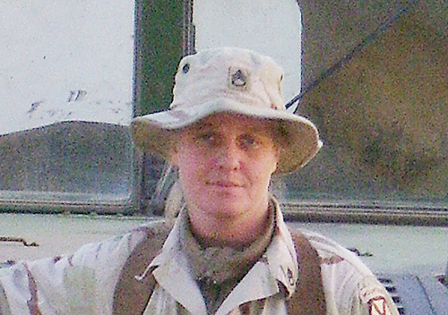Staff Sgt. Jessica Wing during her first deployment in 2003 to the Middle East.