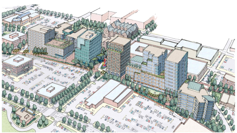 An artist's rendering shows The Federated Cos.' proposal for the Maritime Landing project along Somerset Street in Portland's Bayside neighborhood.
