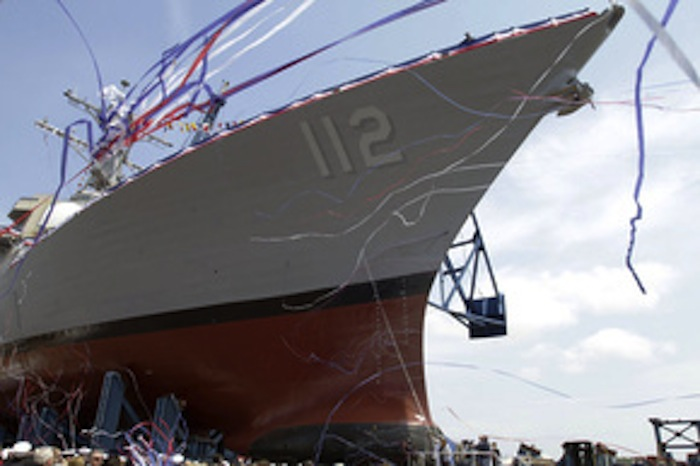 The USS Michael Murphy, the last in a long line of Arleigh Burke-class destroyers, will sail down the Kennebec River this week on its way to New York.