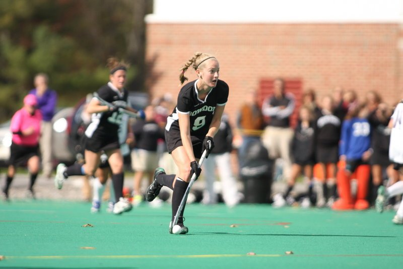 Cathleen Smith is the co-captain of the Bowdoin field hockey team that's simply the most successful college sports team in the state. By far.