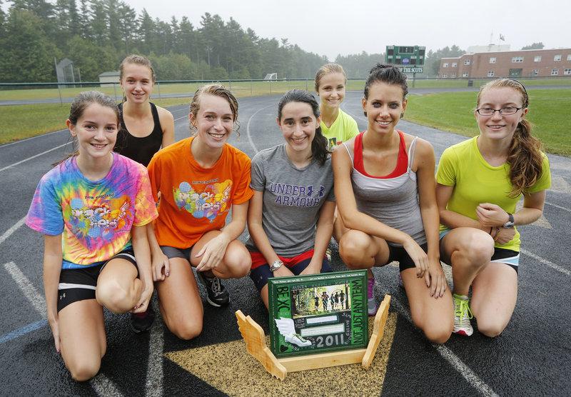 Each week, a Bonny Eagle runner giving extra effort takes home a handmade trophy.