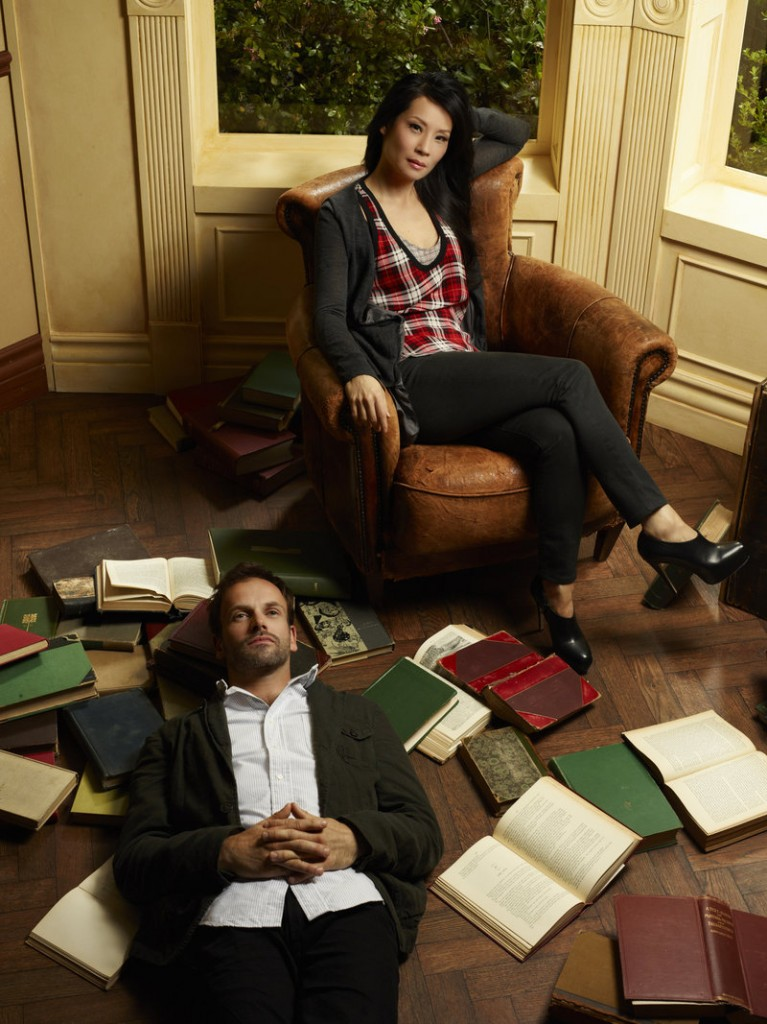 """Jonny Lee Miller and Lucy Liu as Holmes and Watson in CBS's """"Elementary"""""""