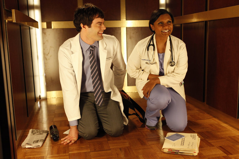 """Mindy Kaling and Bill Hader in the Fox comedy """"The Mindy Project."""""""