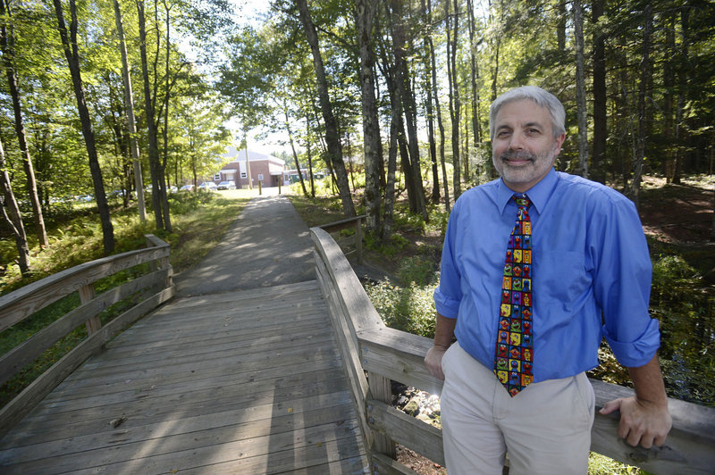"""Tom Ledue, principal of Hanson and Lebanon elementary schools, says school personnel are trying to """"educate our kids"""" about EEE and West Nile """"but not scare them. They don't need to be afraid of going outside."""""""