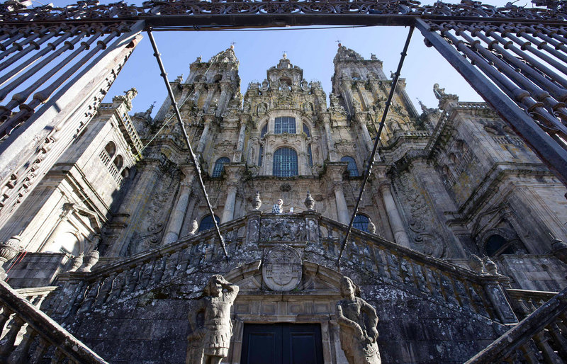 This cathedral in Santiago de Compostela is among the Catholic Church's holdings in Spain. One of Spain's largest landowners, the church could owe up to $3.9 million in taxes a year – but it's also facing its own financial troubles.