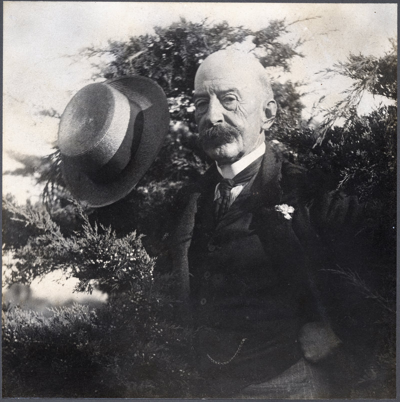 """""""Last official portrait of Homer,"""" 1908, photograph by Peter Juley."""