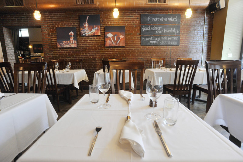 Five Fifty-Five's dining room is formal, not stuffy. The award-winning Congress Street restaurant has become the darling of Maine's high-end dining scene – with good reason.
