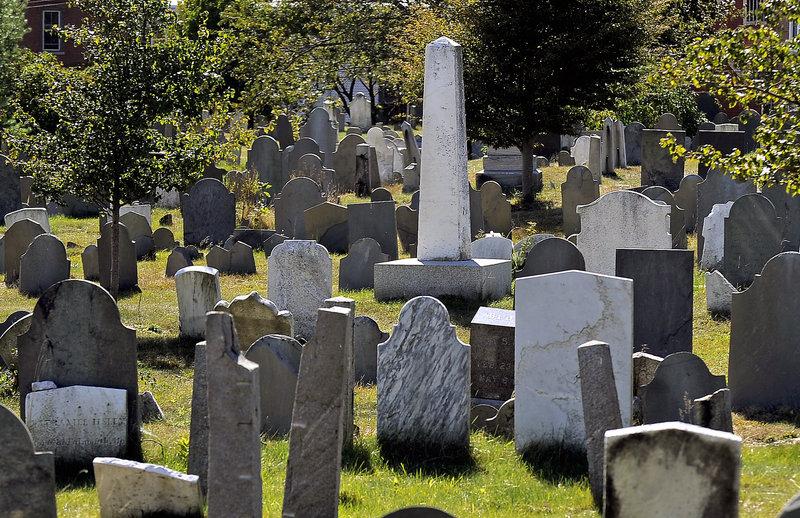 Eastern Cemetery on Mountfort Street in Portland