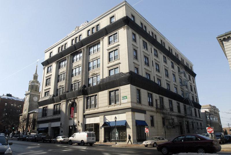 The Masonic Temple building on Congress Street in Portland