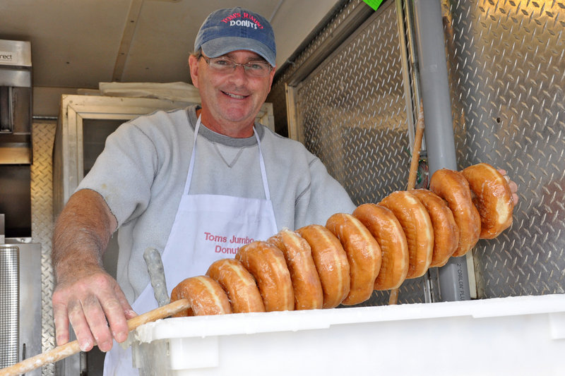 For some in the know, the Fryeburg Fair is about treats from places like Tom's Jumbo Donut.