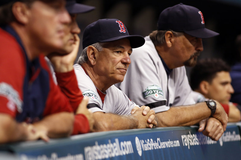 Take a look. A good look. Wednesday night is expected to be the final time that Bobby Valentine wears the Red Sox uniform at Fenway Park as the team's manager.