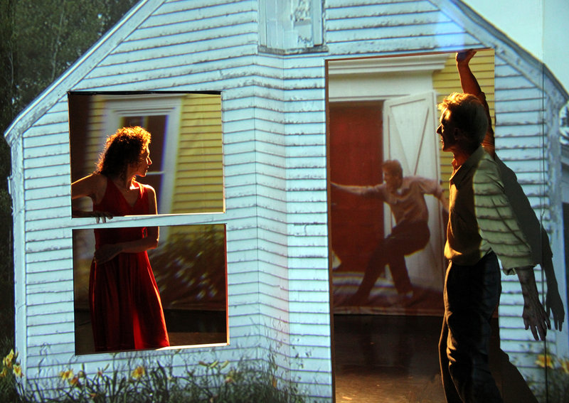 """In """"Voyeur,"""" dancers will perform in front of and behind the set, with cameras projecting live images to the audience when they perform out of view of a door or window. The audience will also see projected footage shot in and around Portland."""