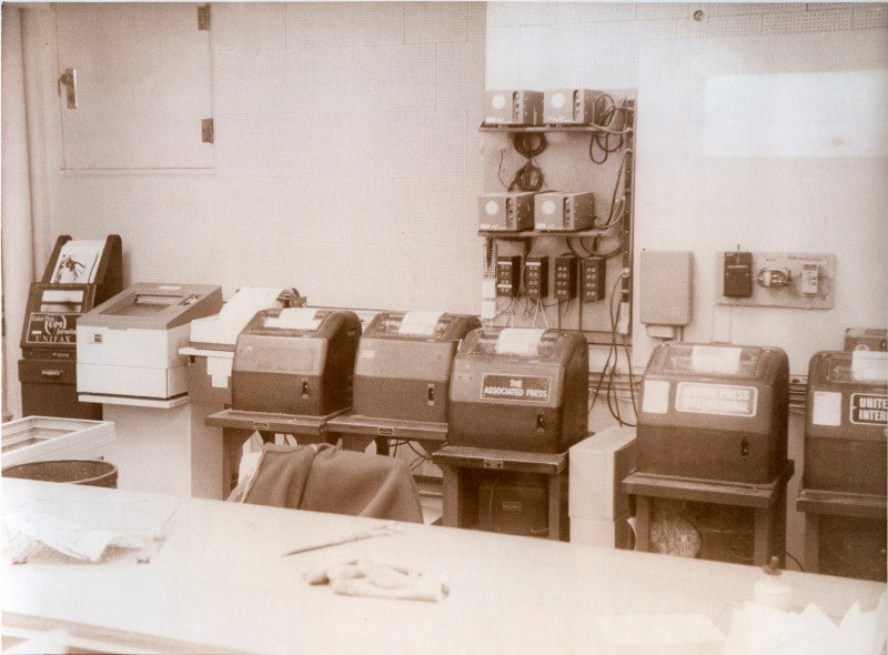 In the 1970s and before, these wire machines at the Press Herald received stories and photos from around the nation and the world from United Press International and the Assoicaitred Press.