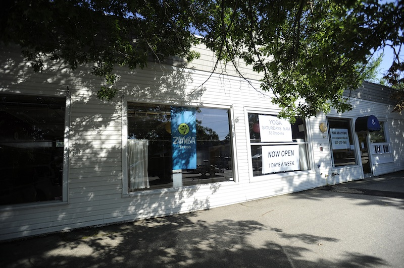This photo shows Pura Vida Studio in Kennebunk on Wednesday, July 11, 2012, where dance studio instructor Alexis Wright allegedly ran a prostitution operation.