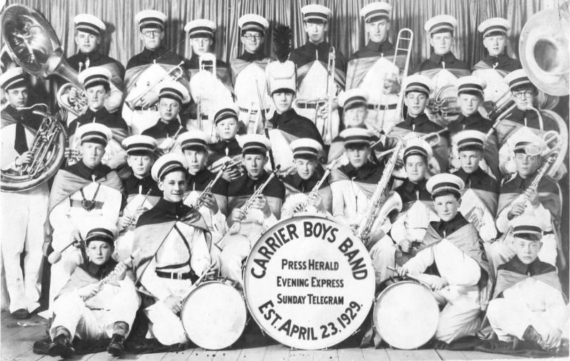 The Press Herald/Evening Express/Sunday Telegram Carrier Boys Band. Boston Herald photo