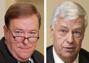 Kevin Raye, left, and U.S. Rep. Mike Michaud