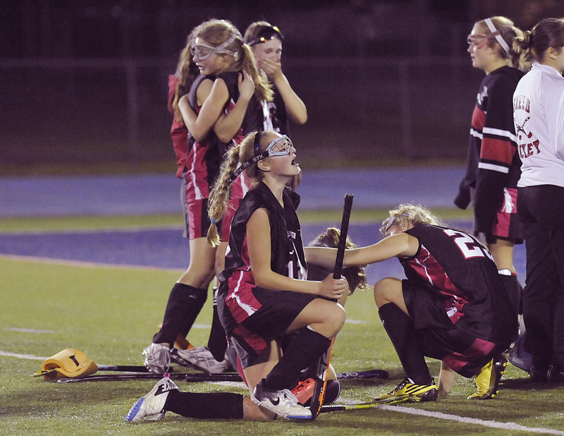 After 17 games, 17 wins and zero goals allowed, the Scarborough field hockey team ran into a dynasty in the Class A state championship game on Saturday. The Red Storm kept Skowhegan scoreless for the first half, but then the Indians scored three goals in less than three minutes to win 3-0, their 11th title in 12 years.