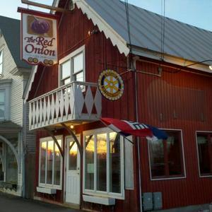 The Red Onion on Main Street in Rangeley attracts plenty of locals and in winter is a favorite of skiers and snowmobilers.