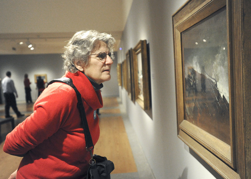 Jane Rosser of Brattleboro, Vt., on Friday takes a close look at Winslow Homer's 1893 oil painting