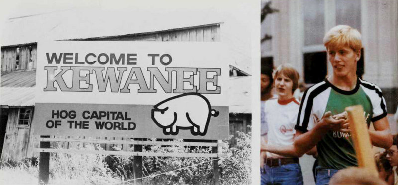 """Charlie Summers, seen as a teenager at right, grew up in Kewanee, Ill., a Rust Belt town of 10,000, but in 1978 still arguably the """"hog capital of the world."""" Summers describes the town as """"a cross between Presque Isle and Biddeford"""" – a small industrial community surrounded by flat, open farmland."""