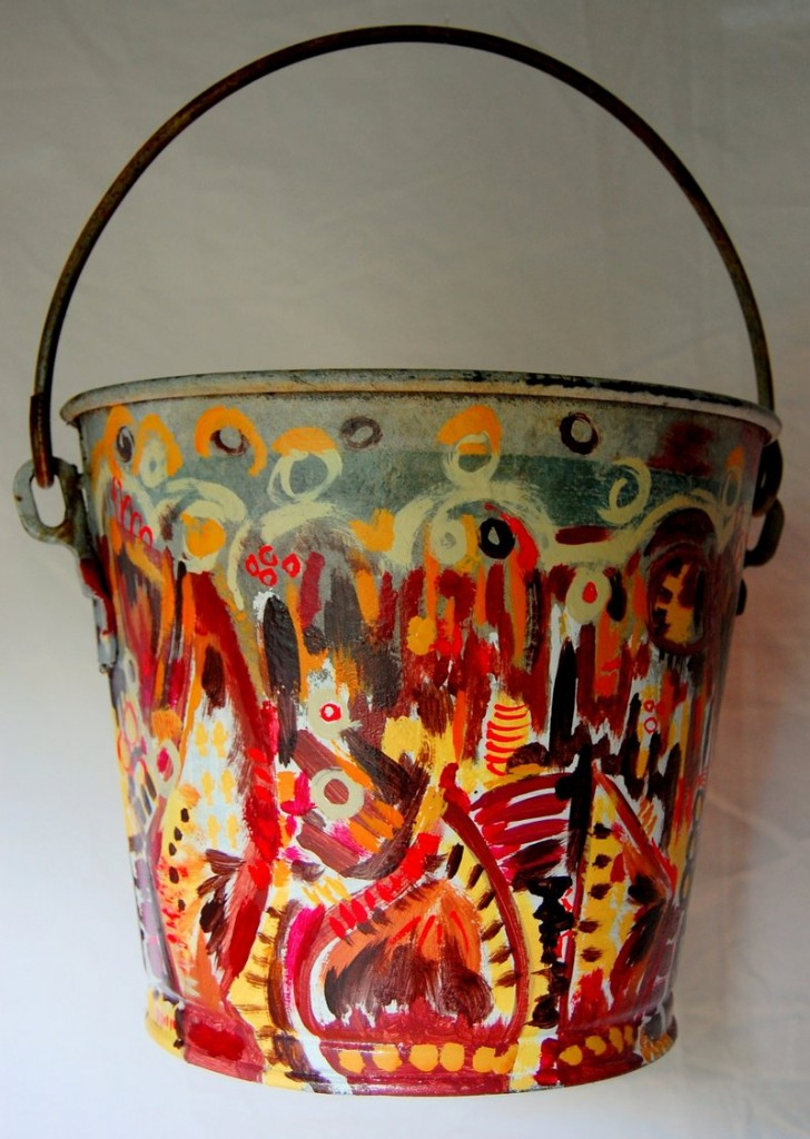 """""""Bucket of Chicken"""" by artist Matt Demers, who worked with Snafu Acres in Monmouth"""
