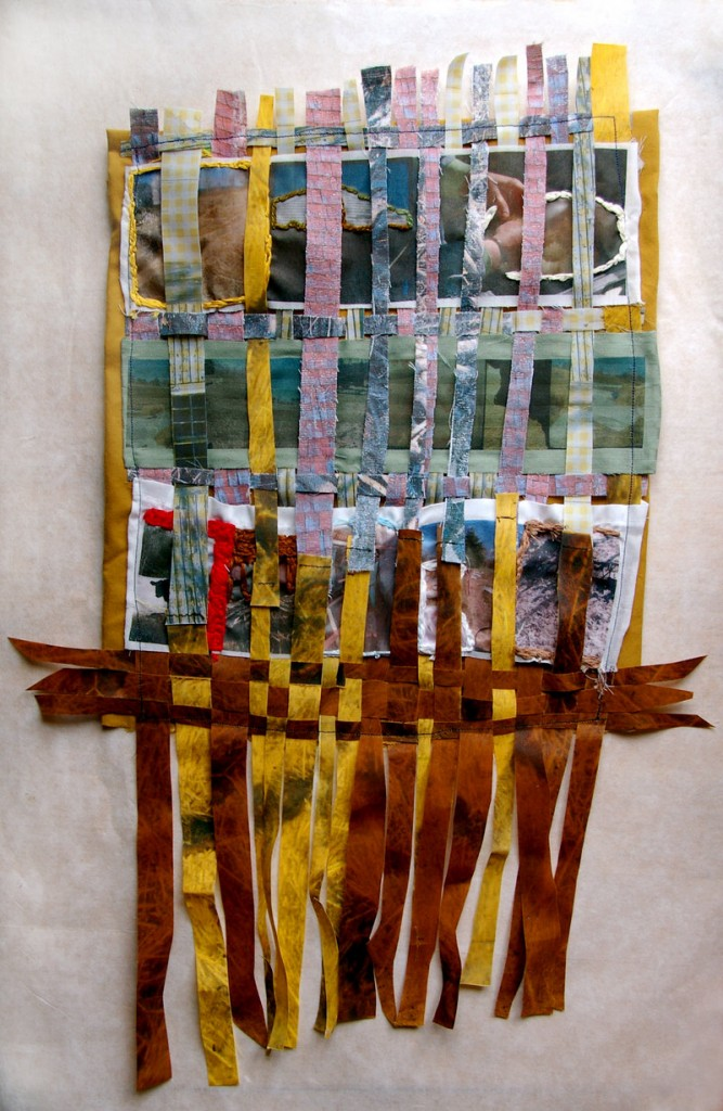 Collaborative weaving by Kim Christensen and Jamie Ribisi-Braley, working as partners at Wholesome Holmestead in Winthrop