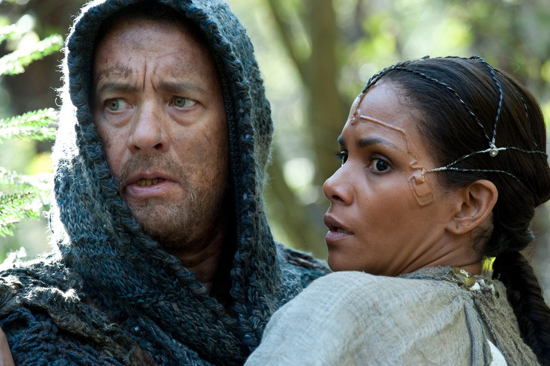 """Tom Hanks and Halle Berry in """"Cloud Atlas,"""" a movie Berry says reminds her that what we do reverberates throughout time."""