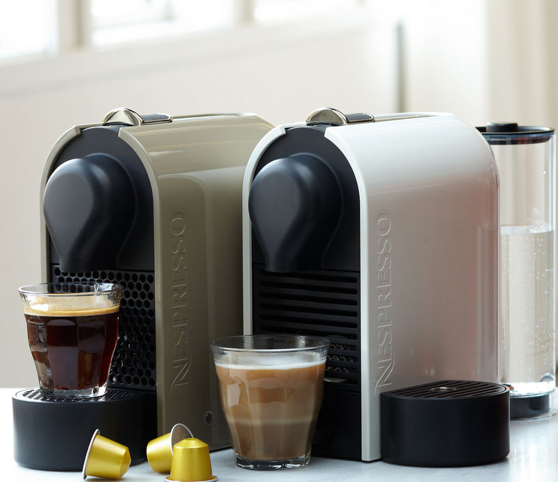 The Nespresso U coffee maker has a slim profile well-suited for smaller kitchens.