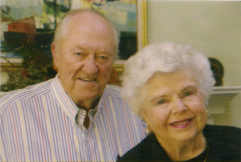 Rodney Quinn and his wife, Melba, in 2002. They met while Rodney was serving on an air base in Texas, and they had four children. Melba died a few weeks ago at age 90.