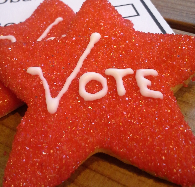 Aurora Provisions in Portland makes a statement with sugar cookies it will be offering during election season. Several local bakeries also are making voting-themed treats.