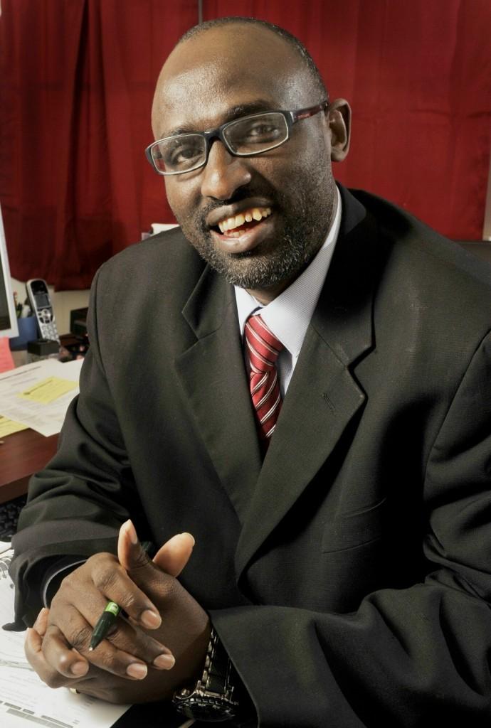 Monday, November 19, 2012. Claude Rwaganje heads the Community Financial Literacy agency in Portland.