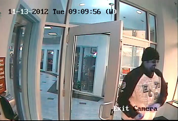 This surveillance photo shows Richard D. Gooding, the man Portland Police say robbed the Bangor Savings Bank branch on Brighton Avenue Tuesday morning.