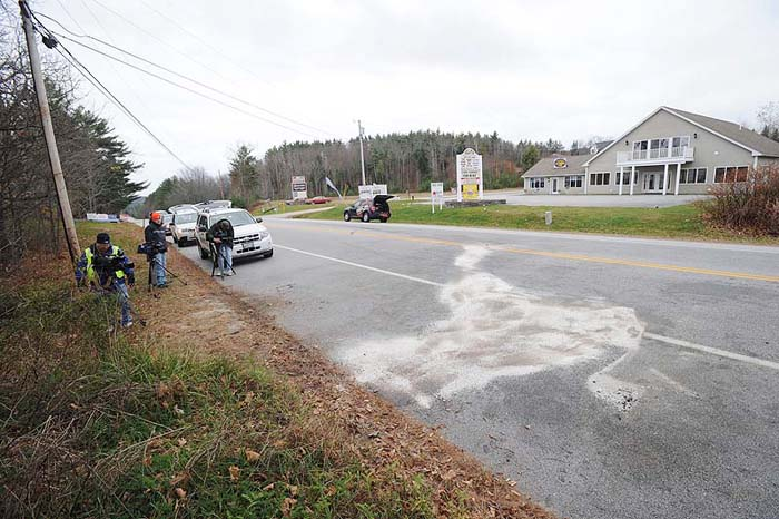 The Pachard's Hill area where the fatal collision occurred around 7 a.m. Monday.