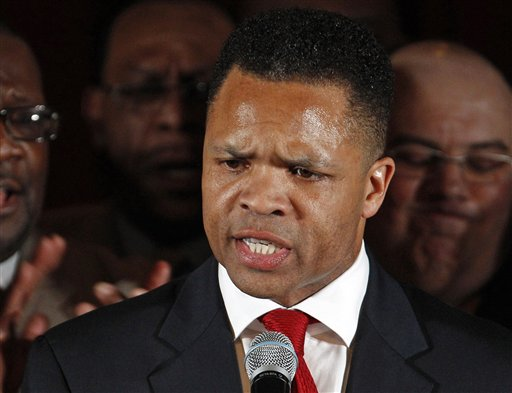In this March 20, 2012, photo, Rep. Jesse Jackson Jr., D-Ill., speaks in Chicago. A spokesman for House Speaker John Boehner says he received letter of resignation from Jackson on Wednesday.