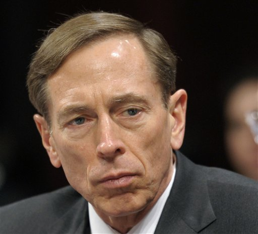 Then-CIA Director David Petraeus testifiess on Capitol Hill in Washington in this Feb. 2, 2012, photo. Petraeus resigned because of an extramarital affair. The Associated Press