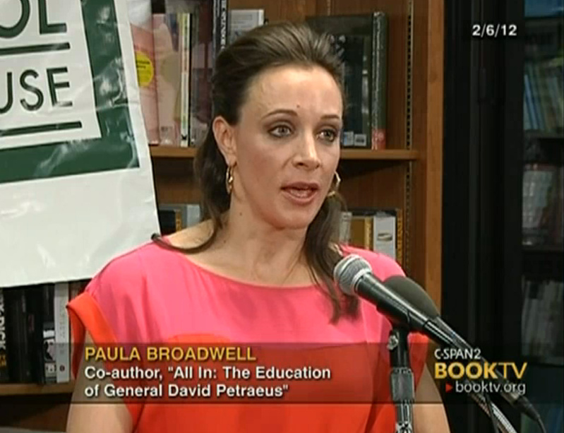 Paula Broadwell speaks about the book she co-authored,