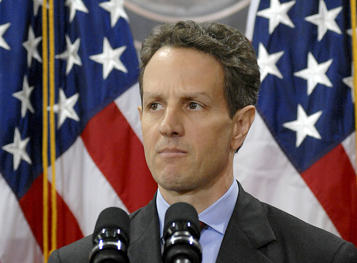 Timothy Geithner at the United States Department of Treasury.